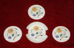 Stone Inlay Tea Coasters Sets