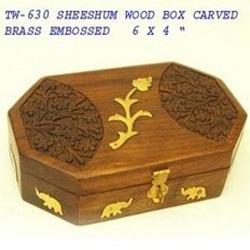 Brass Emboss Wood Box