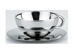 Stainless Steel DW Quo Cup & Saucer