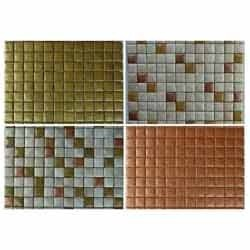 Stone Glass Mosaic Tiles (Metallic Finish)