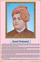 Swami Vivekanand For Life Sketch of Great Men Chart