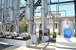 product concentration evaporation plant