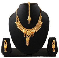 Gold Plated Fashion Designer Indian Necklace Jewelry