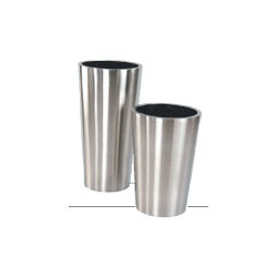 Satin Stainless Steel Planters