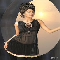 Black Beauty Net Kurtis