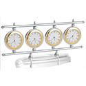 4 Dial Piece World Time Clock