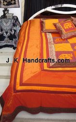 Brocade Silk Ethnic Handwork Bedding Set