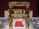 Wedding Golden Carved Welcome Gate