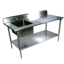 Stainless Steel Rectangular Kitchen Working Table, Rs 13000 /unit ...