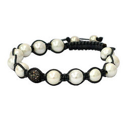 Natural Pearl Shamballa Bracelet jewelry
