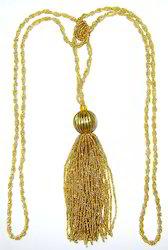 Beaded Tieback Gold