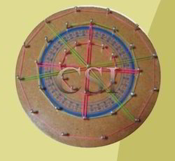 Geo Board-Circle (Wooden)