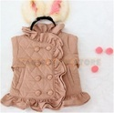 designer frilled coat