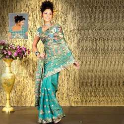 Zari Embroidered Georgette Sarees