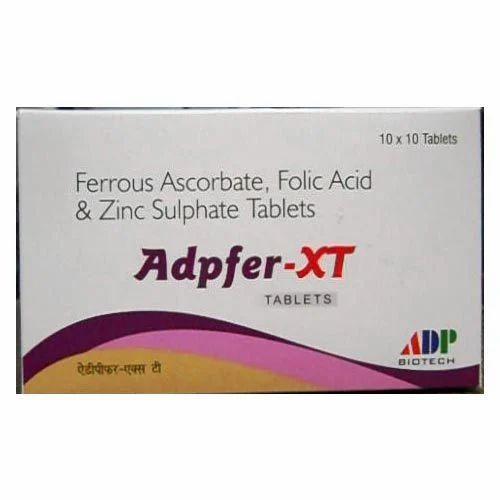 Pharmaceutical Tablets Ferrous Ascorbate Folic Acid And Zinc