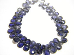 Shaded+Iolite+Faceted+Pear+Briolettes