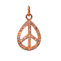 Rose Gold Peace Charms