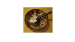 Wood Pasted Bowl And Spoon