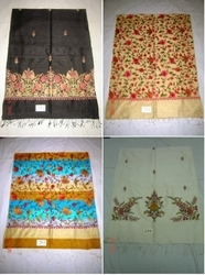 Silk Embroidered Shawls Stoles Scarves
