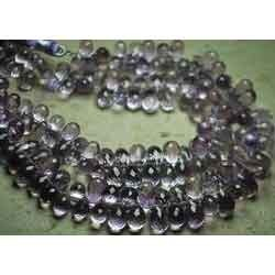 Pink Amethyst Faceted Drops Briolettes