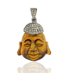 Buddha Pendants Crafted in Tiger eye stone