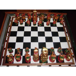 Wooden Chess Painted