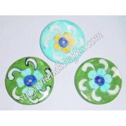 Blue Pottery Coaster Plate Square