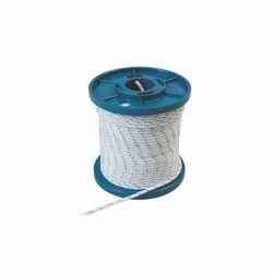 white blue tiller cord nylon