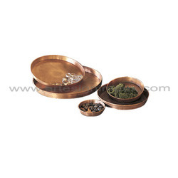 Copper Garden Saucers