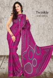 Unstitched Indian Printed Sarees