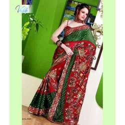 Printed Crystal Saree - 5020