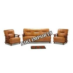 2255 Wood Type Sofa Set - Rexine