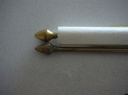 Metallic Scroll Rods In Various Finishes