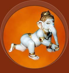 Marble Bal Ganesh Statue