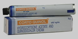 Corto Quinol (Hydrocortisone Acetate And Clioquinol Cream)