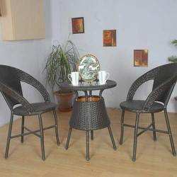 Two Chairs and Round Centre Table