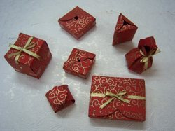 Handmade Paper Favor Box Set