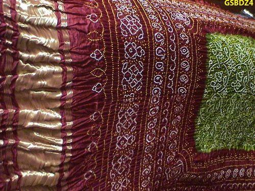 Bandhni Dupattas Bandhni Tie Dyed Gaji Silk Dupatta