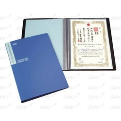 Certificate Clear Books