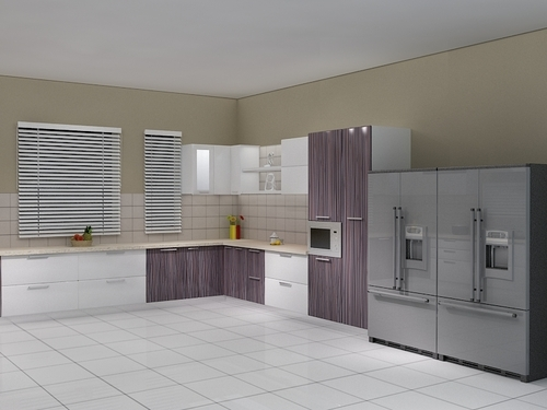 2 Tone High Gloss Modular Kitchens,Jalandhar,Punjab,India,ID