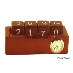 Wooden Calender with Watch