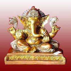 Sitting Ganesha Brass Statues