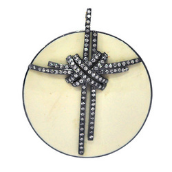 Diamond studded Enamel Pendants
