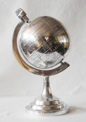 Aluminum World Globe