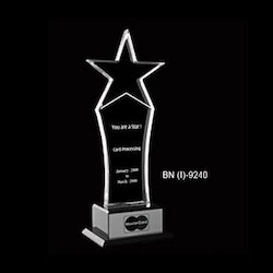Acrylic Awards With Star On The Top