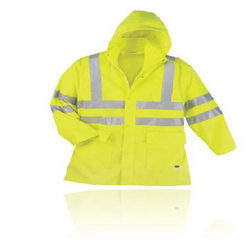 Hi-Vis Waterproof Jackets With Anti-Wick Barrier