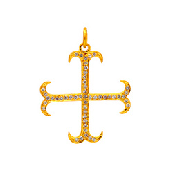 Diamond gold cross