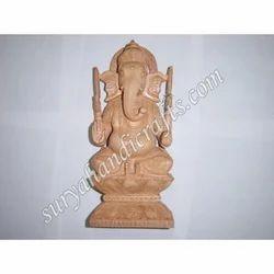 Wooden Ganesh Sitting