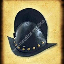 Spanish Comb Morion Helmet Leather Coated