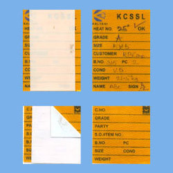 Satin Self Adhesive Labels
